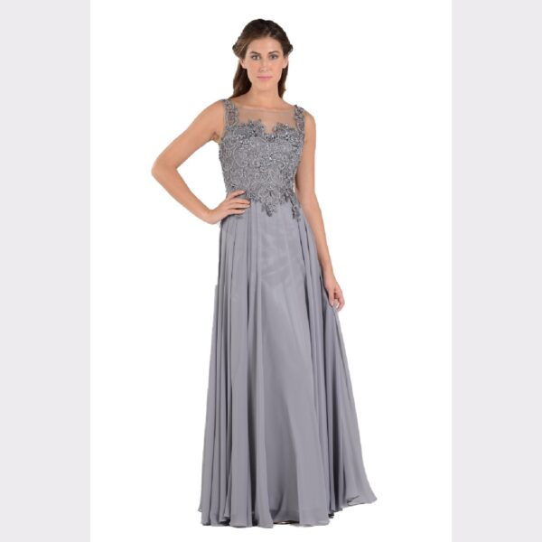 bc85764520 PolyUSA 7644 Chiffon Embellished Evening Gown